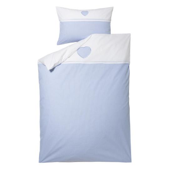 Kinder-Bettwäsche-Garnitur Tilly | Kinderzimmer > Textilien für Kinder > Kinderbettwäsche | Weiss - Blau | Graser