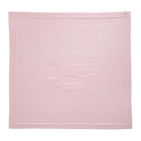 Kinder-Strickdecke Schaukelpferd | Kinderzimmer > Textilien für Kinder > Kinderbettwäsche | Wolle | Solo Tu